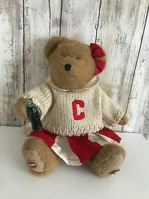 BOYDS Coca Cola Jointed Teddy Bear Cheerleader Sweater VINTAGE RARE!