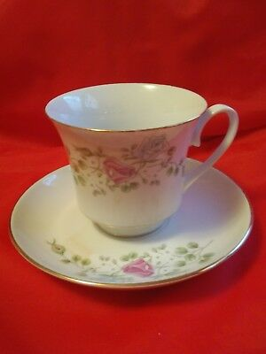 VINTAGE Regent TEA CUP AND SAUCER SET FLORAL/GOLD made in China Fine China