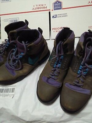 NIKE Mens Vintage 1987 LAVA HIGH Hiking Shoes Boots SZ 9.5/2 PAIRS not wearable!