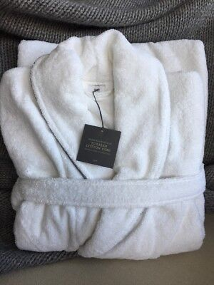 NWT Restoration Hardware Hotel Satin Stitch Turkish Cotton Robe, Small Unisex