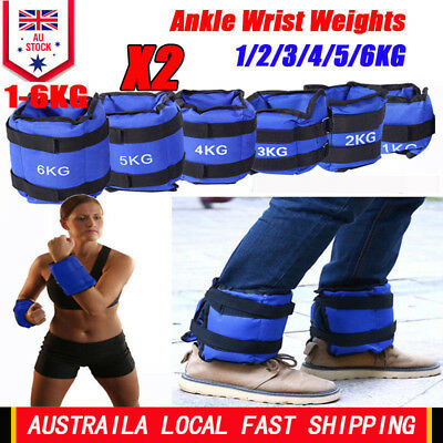 2-12 KG Adjustable Ankle Wrist Weights Strap GYM Equipment Fitness Training AU