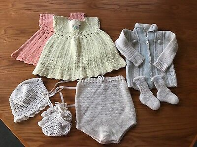 Vintage Knit Baby Clothes
