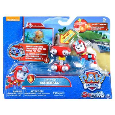 Paw Patrol Sea Patrol Light Up Marshall with Pup Pack and Mission Card