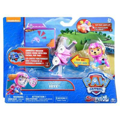 Paw Patrol Sea Patrol Light Up Skye with Pup Pack and Mission Card