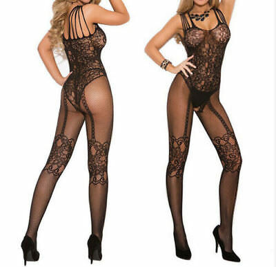 Sexy Women Lady Lingerie Open Crotch Crotchless Fishnet Bodysuit Body Stockings