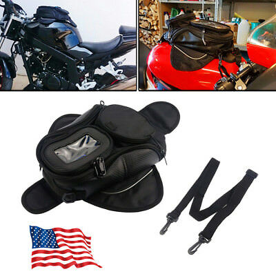 Waterproof Motorcycle Motorbike Magnetic Tank Bag For Metal Tanks easy carry US