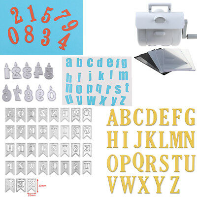 Large Alphabet Letter 0-9 & A-Z Cutting Dies Stencils Scrapbooking Crafts DIY UK