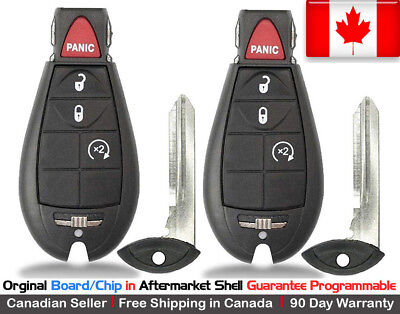 2 OEM New Replacement Keyless Entry Remote Key Fob For Dodge Ram
