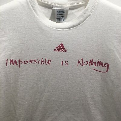 """meilleure sélection 0eb2b 5bf4d ADIDAS """"IMPOSSIBLE IS Nothing"""" T Shirt size L"""
