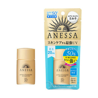 New Shiseido ANESSA Perfect UV Skin Care Milk SPF50+ PA++++ 20ml
