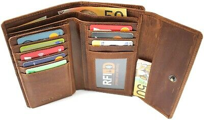 RFID SECURITY LINING. Quality Full Grain Cow Hide Leather Purse. Style No: 21004