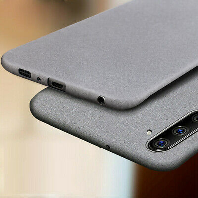 For Samsung Galaxy S8 S9 Plus Note 9 8 Slim Sandstone Hard Shell Back Cover Case