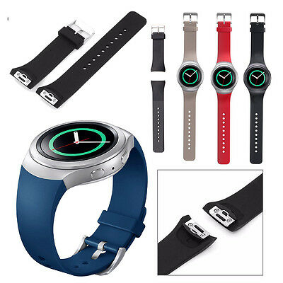 For Samsung Gear S2 SM-R720/R730 Watch Replacement Band Silicone Wristband Strap