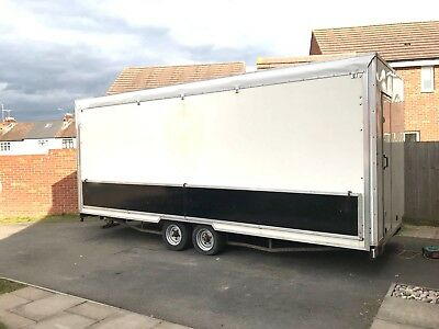 Exhibition Trailer Mobile Shop Twin Axle Show Stand Market Stall Display Unit