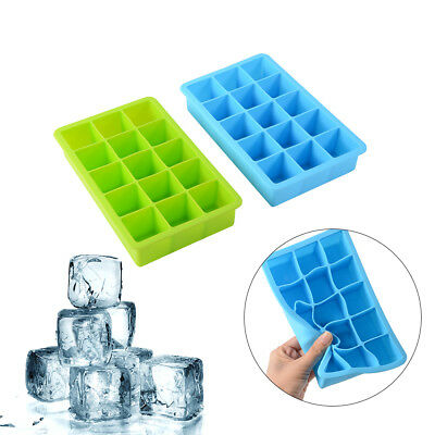 4PCS 15-Cavity Silicone Mold Tool Jelly Ice Cubes Tray DIY Pudding Mould HS971