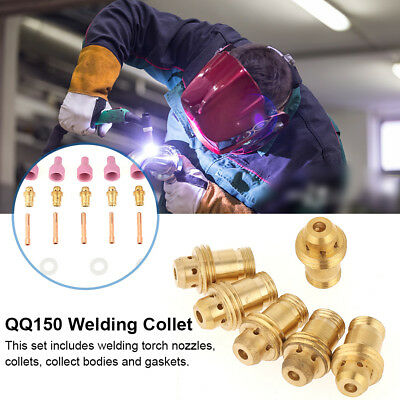 21PCS TIG Nozzle Gaskets Collets Cup Body Consumables For QQ150 Welding Torch GL