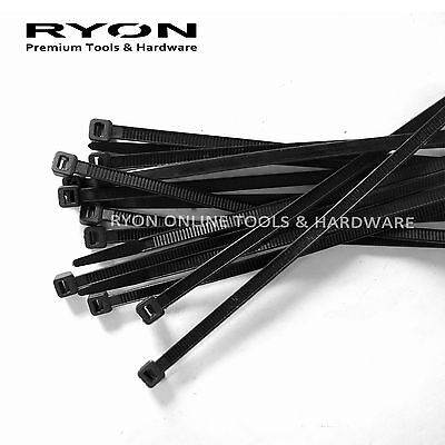 EXTRA LONG Black Cable Tie Electrical Nylon Zip Ties 650 900 1200 mm Heavy Duty