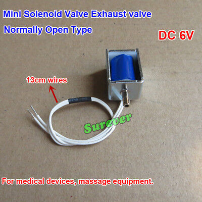 Micro DC 6V Solenoid Valve Exhaust valve Normally Open Type For Sphygmomanometer