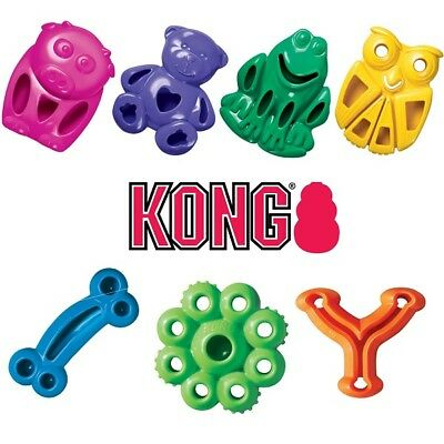KONG Quest Dog Puppy Chewer Treat Dispenser Chew Toy, Shapes & Colours or Treats
