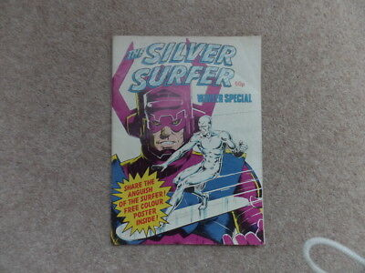 Vintage Marvel The Silver Surfer Winter Special UK Comic 1982 with Colour Poster