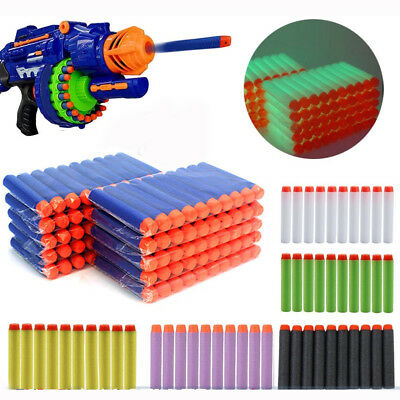 60pcs Nerf Gun Soft Refill Bullets Darts Round Head Blasters For N-Strike Toy