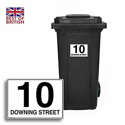 A5 [4 X Pack] - Personalised Wheelie Bin Sticker / Vinyl Labels with House Nu...