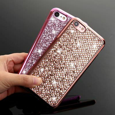 Bling Glitter Soft Silicone Slim Case Cover For iPhone X Samsung Galaxy S9 Plus
