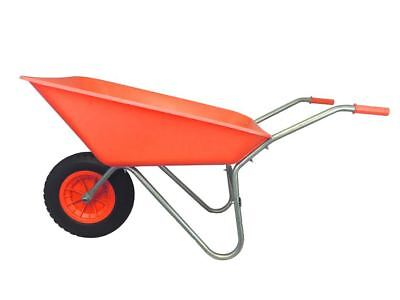 KetoPlastics RED PLASTIC WHEELBARROW WITH RED PLASTIC CENTRE PUNCTURE PROOF PU WHEEL 85L
