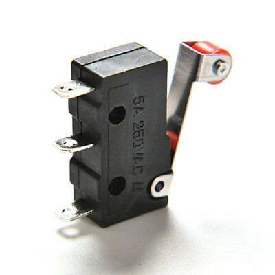 10Pcs Micro Roller Lever Arm Open Close Limit Switch KW12-3 PCB Microswitch PB