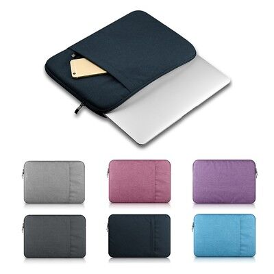 Zipper PC Laptop Case Bag Cover Soft Sleeve Pouch For Macbook Pro/Air Notebook