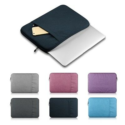 Zipper PC Laptop Soft Case Bag Cover Sleeve Pouch For Macbook Pro/Air Notebook