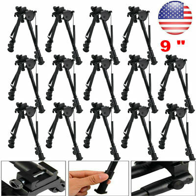 """Wholesale 9"""" Tactical Rifle Gun AR Bipod OP SWAT Mount Stand Dual Height Rail OY"""