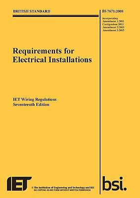 Requirements for Electrical Installations, Iet Wiring Regulations  9781849197694