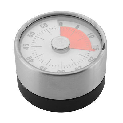 60-Min Kitchen Timer Mechanical Counter Alarm Reminder Cooking Magnetic HS1128