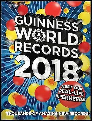 Guinness Book of World Records 2018 Annual Hardbacked Book Guiness