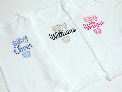 Personalised Baby Vest Boy, Girl, Unisex Baby Clothes New Baby Gift, Embroidery
