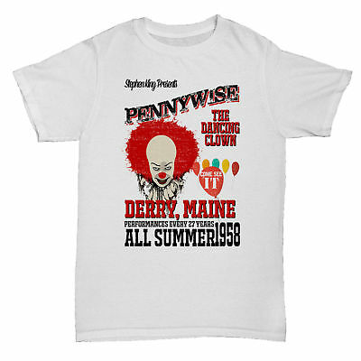 It Pennywise Stephen King Horror Classic Clown Christine Film Movie Book T Shirt