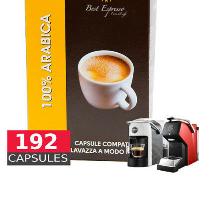 100% Arabica espresso - 192 Coffee Capsules A Modo Mio Compatible by Best Espres