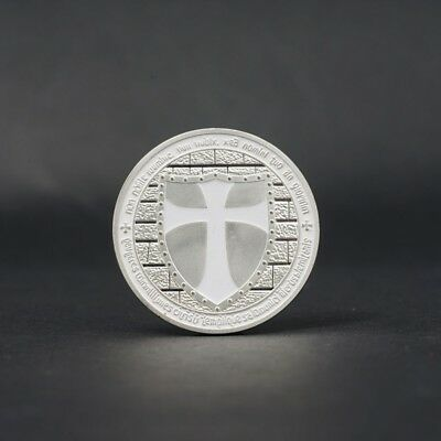 Rome the Pope Expeditionary Force Knights Templar Commemorative Coin White Cross