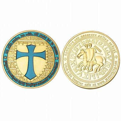 Rome the Pope Expeditionary Force Knights Templar Commemorative Coin Blue Cross