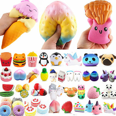 Squishy Stress Reliever Squishies Squeeze Toy Key Ring Relief Gift Set Jumbo UK