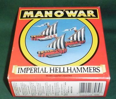 Rare OOP Citadel GW Man O' War Boxed Empire Hellhammer Squadron of 3 models