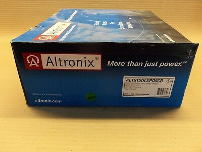 New in Box Altronix AL1012ULXPD8CB Multi-Output Power Supply/ Battery Charger