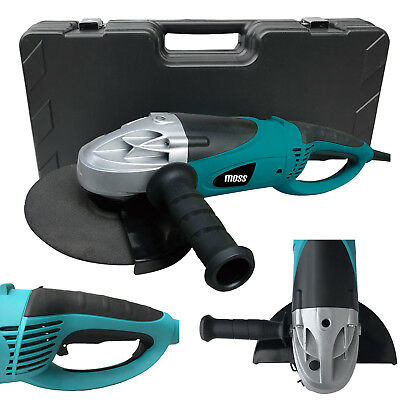 """Moss 2350w Angle Grinder 230mm 9"""" Disc With Blow Moulded Storage Case"""