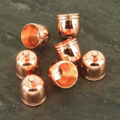 Rose Gold 14 x12mm Findings Bead Kumihimo End Caps Only Jewellery Findings TC51