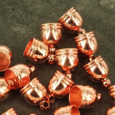 Rose Gold 11 x 8mm Findings Bead Kumihimo End Caps Only Jewellery Findings TC53
