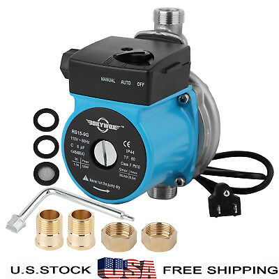 110V Automatic Booster Pump Silent Domestic Circulator Pump,Stainless Steel