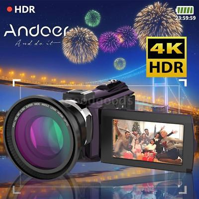 WiFi 4K Ultra HD 1080P 48MP IR Nachtsicht Digital Video Kamera DV Camcorder DVR