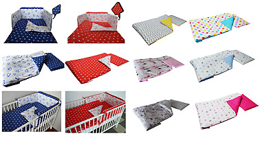HEARTS  Baby Bedding Set fit Cot 120x60cm or Cot Bed 140x70 -BABY GIRL BOY+MORE