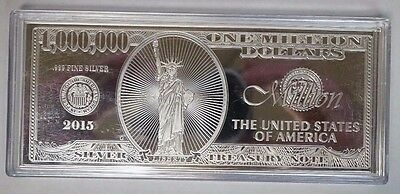 1 oz .999 Fine Silver Bar $1 Million Dollar Bill Note with COA . ITEM #4